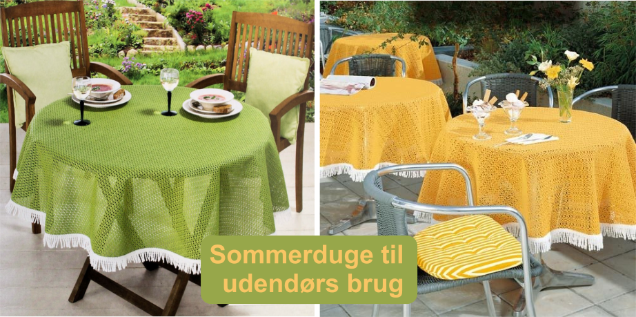 Till trädgårdsbordet – Sommardukar utomhus