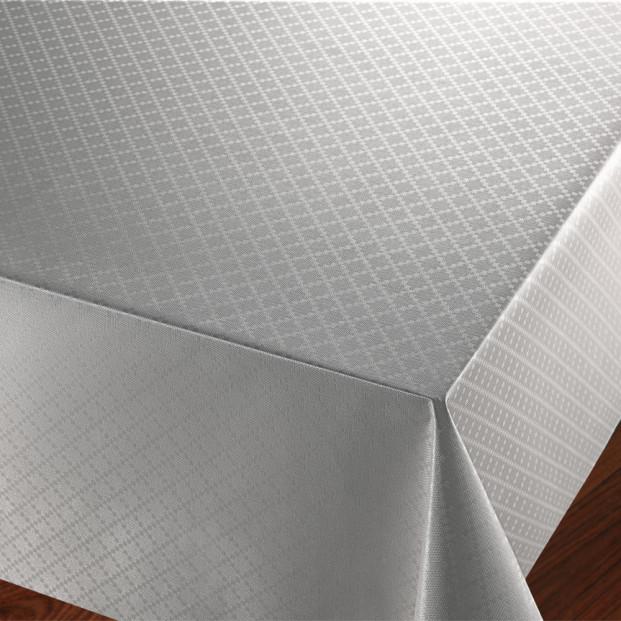 Checkers Silver - voksdug med præget ternet mønster