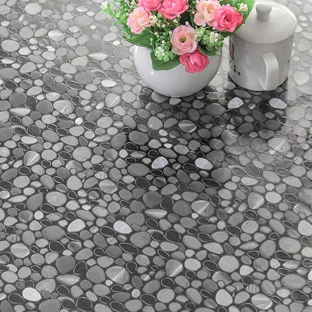 Klar plast Cristal Stones gennemsigtig voksdug med sten motiv