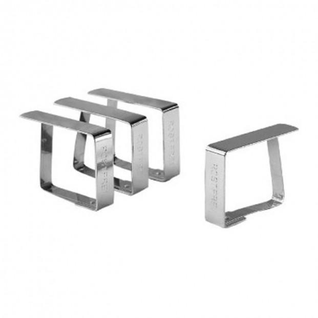 Dugklemmer, metal rustfri - 4 stk.