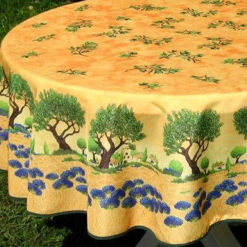Oliventræer, terracotta, Ø155