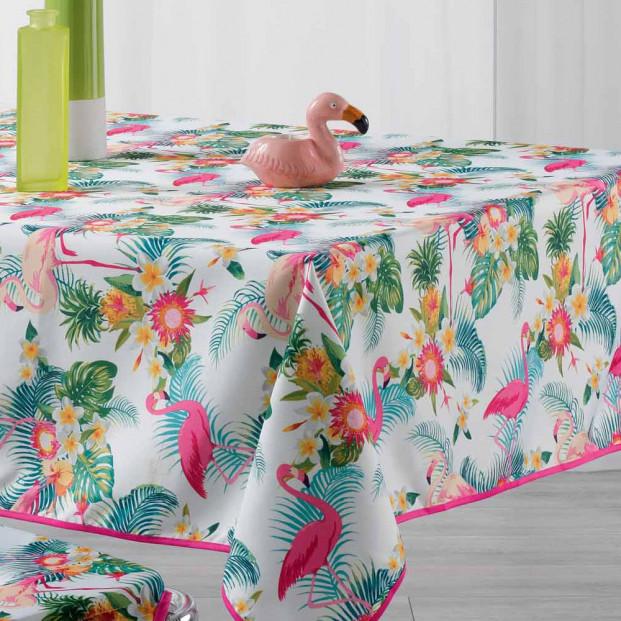 Flamingo Beach White, dug med anti-plet, 150 x 240 cm