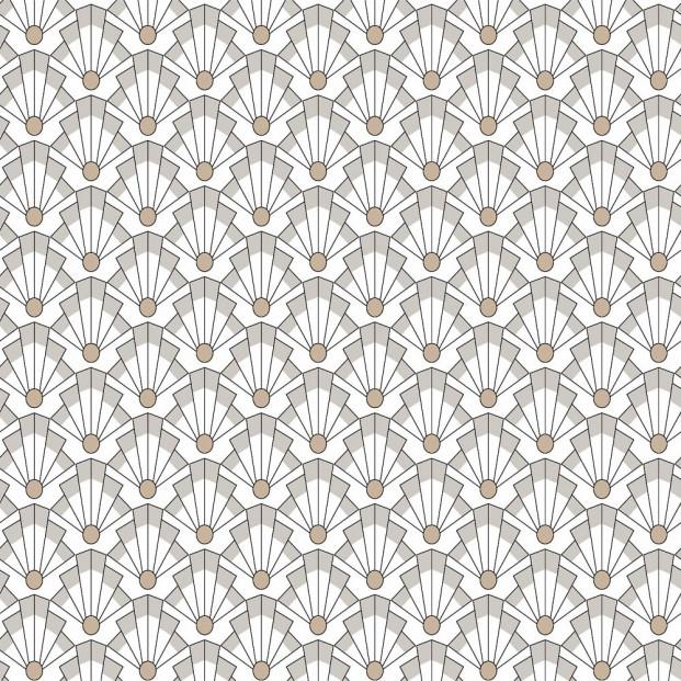 Grafik a la Moebius - Voksdug med flot grafisk mønster