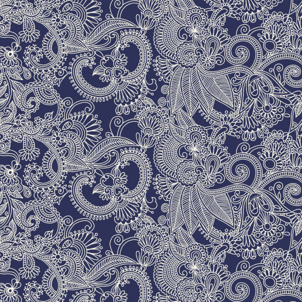 Rama Marino  - Voksdug i blå og hvid