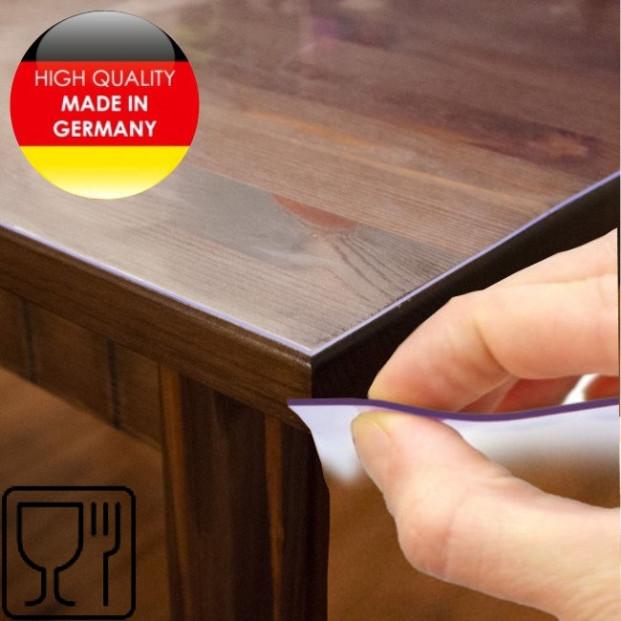 Klar plast 1,0 mm / 100 cm -  genomskinlig caféfolie / transparent vaxduk