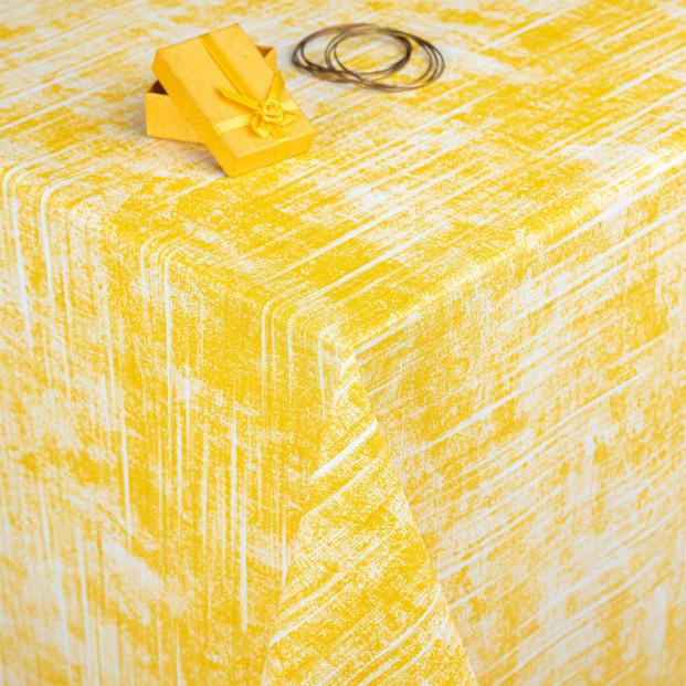 Melange Mellow Yellow, voksdug med let præget overflade