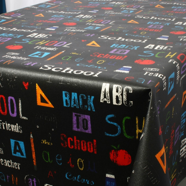 School, akryldug fra Laura Lancelle, 155 cm bred