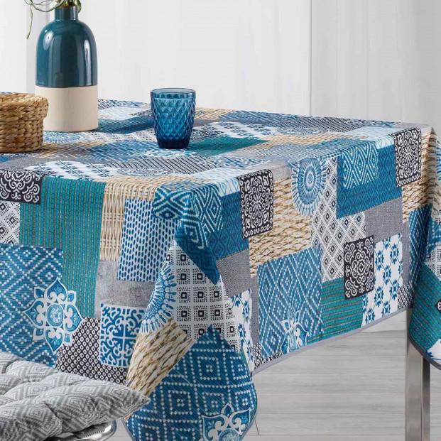 Trikala Blue, dug med anti-plet, 150 x 240 cm