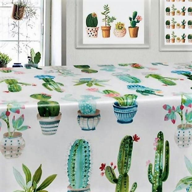 Kaktus-familien, voksdug med kaktusser.
