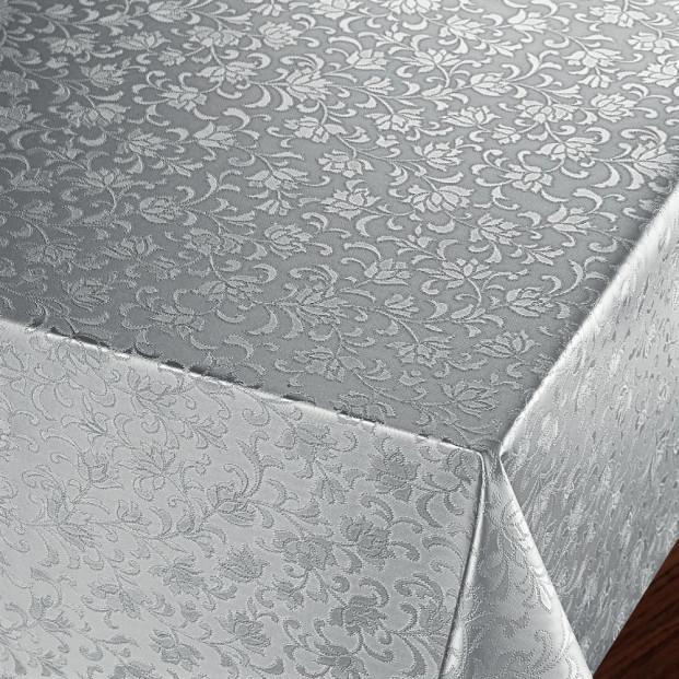 Rosenflor Sølv - Flot damask præget voksdug