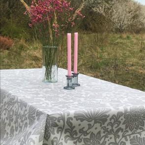 Flower Pound - Symfoni af blomster, blå - akryldug med antiskrid