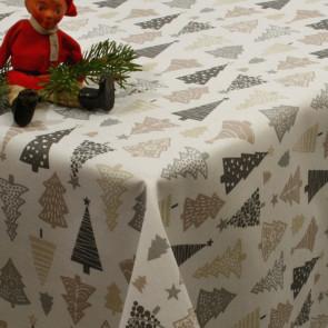 Juledug, akryldug med Kræmmerhuse eller Juletræer