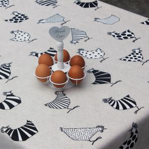 Rego, akryldug med sjove høns, 140 cm bred