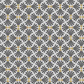 Alhambre - Gylden - Grå - Voksdug med flot grafisk mønster
