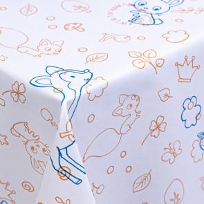 Bambiland, en sød børne-voksdug med glat overflade
