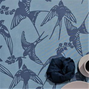 BIRDS Arona Blue - Note by Susanne Schjerning - akryldug med antiskrid