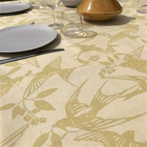 BIRDS Golden - Note by Susanne Schjerning - akryldug med antiskrid