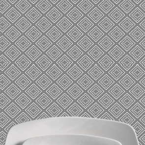 Bradley grå, Laura Lancelle akryldug, 155 cm