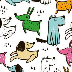 Dogs - Voksdug med søde hunde