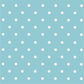 Dots Vintage Blue, voksdug med prikker