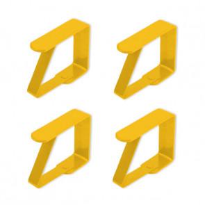 Dugklemmer metal, gul - Sæt med 4 stk.