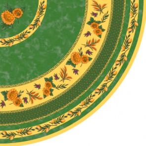 Rund Provence voksdug, Ø 155 cm, grøn.