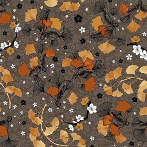 Ginkgo Biloba Blade - Voksdug i varme natur- og gyldne farver
