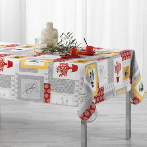 Graziella Yellow/Brick Red, dug med anti-plet, 150 x 240 cm