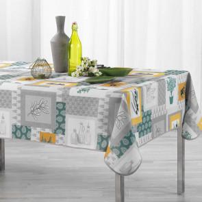 Graziella Yellow/Green, dug med anti-plet, 150 x 240 cm