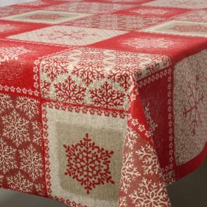 Juledug Frozen Rød, akryldug i 90% bomuld/10% polyester