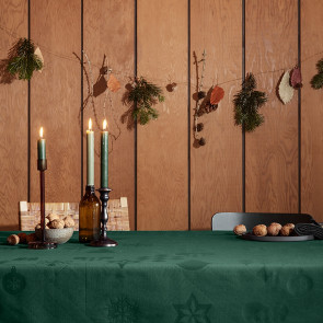 Juna Juledug Natale, flot damaskdug i grøn - 150 cm x 220 cm