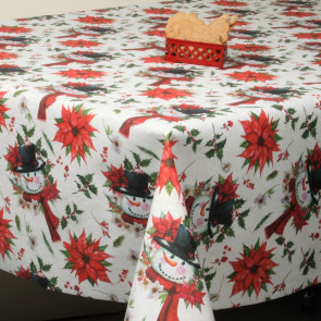 Juledug Buhos - Granugler, akryldug med nuttede jule ugler