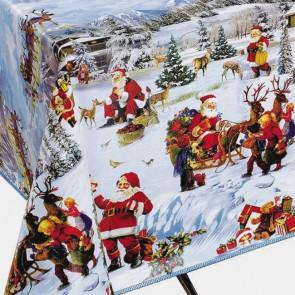 Julevoksdug - Voksdug med Jul og gaver i sneen