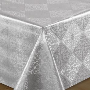 Sølv Lilje - julevoksdug med præget mønster
