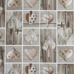 Julevoksdug - Wooden Heart, 140 cm bred