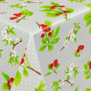 Kirsebær i Blomst og Høst, Grå, voksdug med let præget overflade