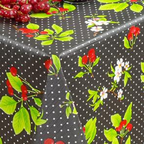 Kirsebær i Blomst og Høst, Sort, voksdug med let præget overflade
