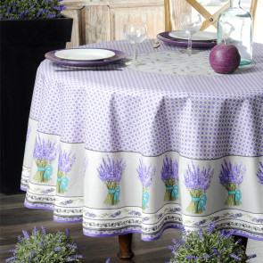 Lavande lavendel, rund provencedug Ø 180 cm