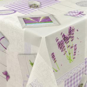Lavendel Liv, voksdug med let præget overflade