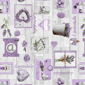 L´eau de Lavande, voksdug med lavendel, 140 cm