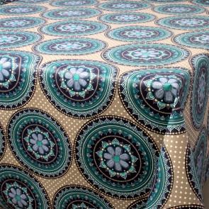 Nador blå, Laura Lancelle akryldug med teflon, 155 cm bred