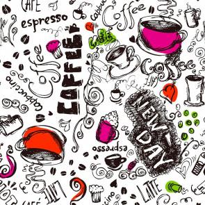 New Day Fuchsia  - Voksdug i stærke farver med kaffe og kakao.