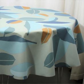 Palm Blue, Susanne Schjerning - rund akryldug med antiskrid