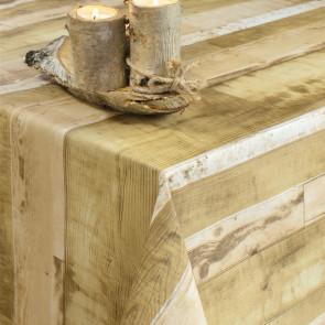 Planker Beige - Rund voksdug med elastik