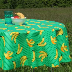 Plantain - Rund akryldug med bananer - Ø 150 cm