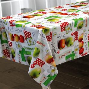 Pommes, dug 150 x 240 cm med æbler