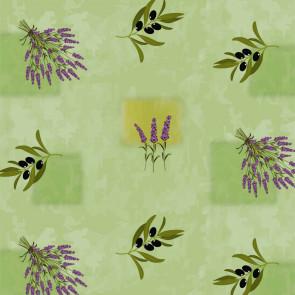 Provence voksdug - Oliven og Lavendel Misty Green