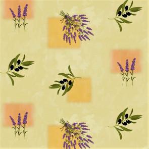 Provence voksdug - Oliven og Lavendel Misty Yellow
