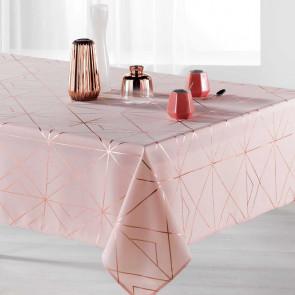 Quadris Pink/Gold Pink, dug med anti-plet - 150 x 300 cm