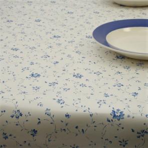 Romance, voksdug med små søde blå blomster, 140 cm bred